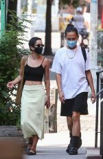 ZOE KRAVITZ and Alexander Wang Out in New York 09/30/2020