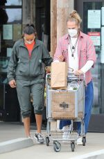 ZOE SALDANA and Marco Perego Out Shopping in Malibu 10/24/2020
