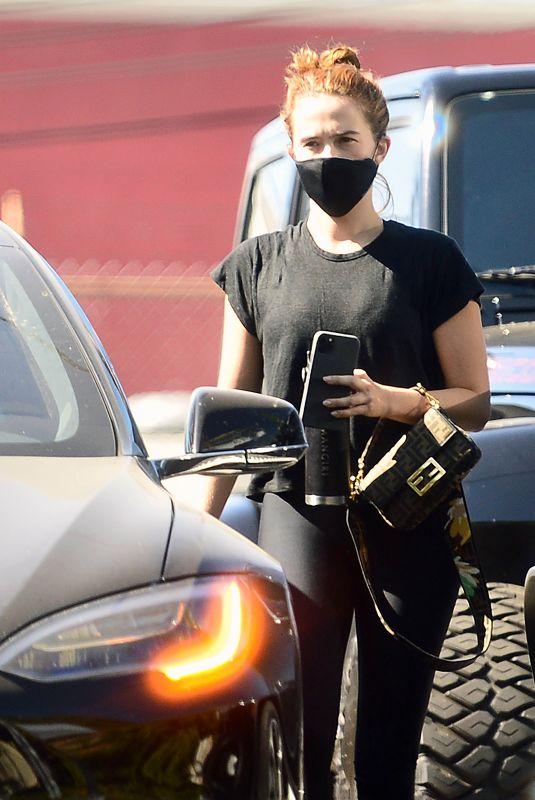 ZOEY DEUTCH Leaves a Gym in Los Angeles 10/15/2020