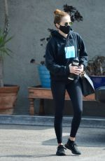 ZOEY DEUTCH Leaves a Gym in Los Angeles 10/23/2020
