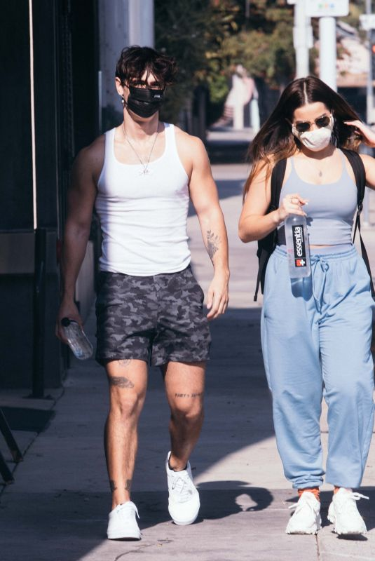 ADDISON RAE and Bryce Hall Leaves a Gym in West Hollywood 11/26/2020