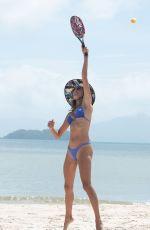 ALESSANDRA AMBROSIO in a Blue Bikini at a Beach in Florianopolis 11/28/2020