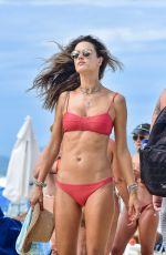 ALESSANDRA AMBROSIO in a Red Bikini at a Beach in Florianópolis 11/21/2020