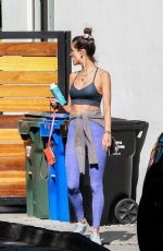 ALESSANDRA AMBROSIO Leaves Pilates Studio in West Hollywood 11/11/2020
