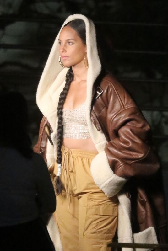 ALICIA KEYS on the Set of a Video for MTV EMA in Los Angeles 11/02/2020