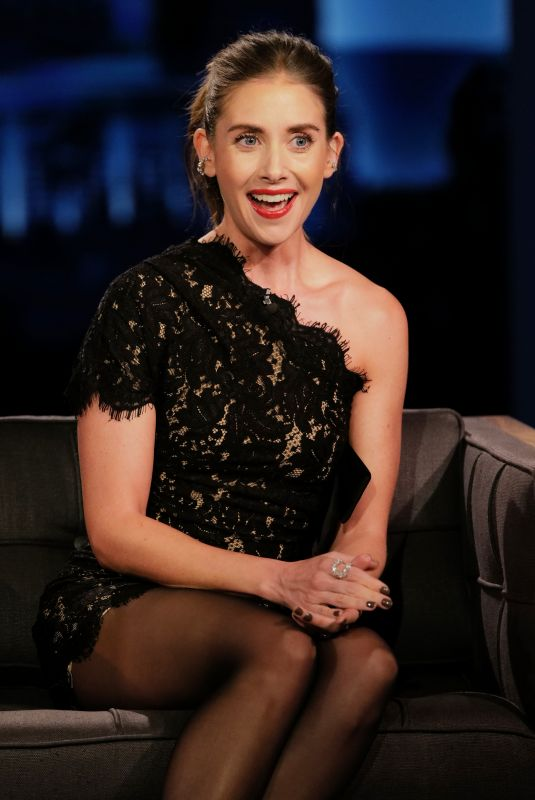 ALISON BRIE at Jimmy Kimmel Live 11/17/2020