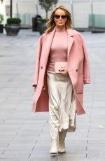 AMANDA HOLDEN Arrives at Global Radio in London 11/18/2020