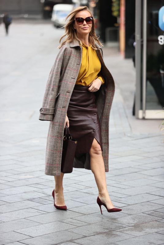 AMANDA HOLDEN Arrives at Heart Radio in London 11/23/2020