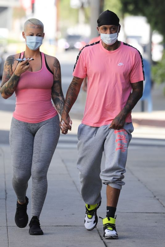 AMBER ROSE Heading to a Gym in West Hollywood 11/04/2020