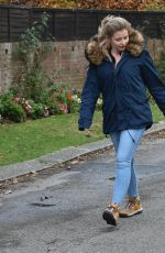 AMY HART Out with Her Dog in West Sussex 11/27/2020