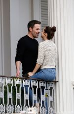 ANA DE ARMAS and Ben Affleck Kissing on a Balcony in New Orleans 11/19/2020