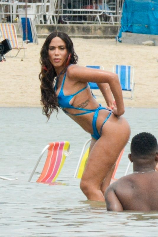 ANITTA in Bikinis on the Set of a Music Video at a Beach in Rio de Janeiro 11/20/2020