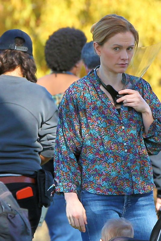 ANNA PAQUIN on the Set of Modern Love in New York 11/06/2020