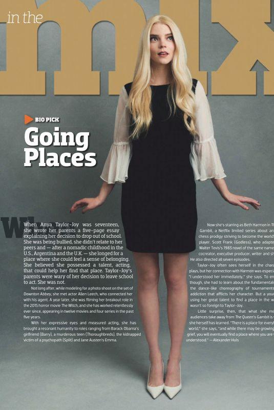 ANYA TAYLOR-JOY in Emmy Magazine, November 2020