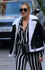 ASHLEY ROBERTS Arrives at Heart Radio in London 11/23/2020