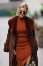 ASHLEY ROBERTS Arrives at Heart Radio in London 11/24/2020