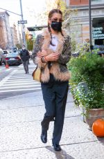 BELLA HADID Out and About in New York 11/19/2020