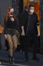 BELLA THORNE Out with Friends on Holidaying in Rome 10/30/2020