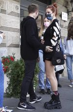 BELLA THORNE Shopping in a Make-up Studio in Rome 10/31/2020