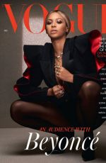 BEYONCE KNOWLES in Vogue Magazine, UK December 2020
