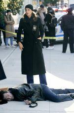 BRIDGET MOYNAHAN on the Set of Blue Bloods in Brooklyn 11/04/2020