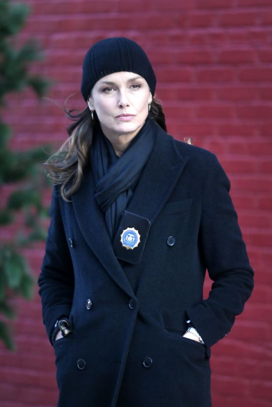 BRIDGET MOYNAHAN on the Set of Blue Bloods in New York 11/08/2020