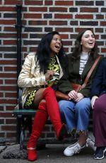 BUSY PHILIPPS, RENEE ELISE GOLSBERY, SARA BAREILLES and PAULA PELL on the Set of Girls5eva in New York 11/03/2020