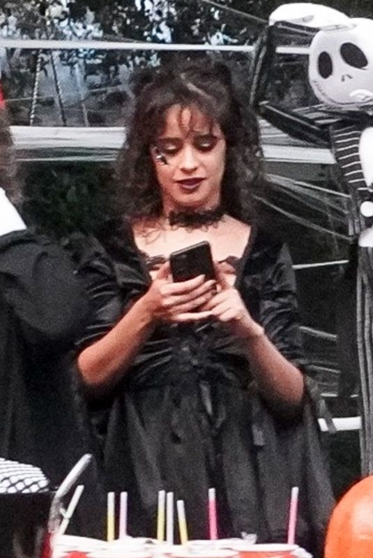 CAMILA CABELLO Giving Out Candy on Halloween in Miami 10/31/2020
