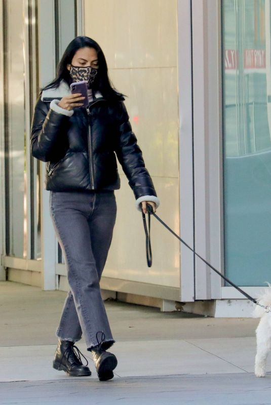 CAMILA MENDES Out with Her Dog in Vancouver 11/10/2020