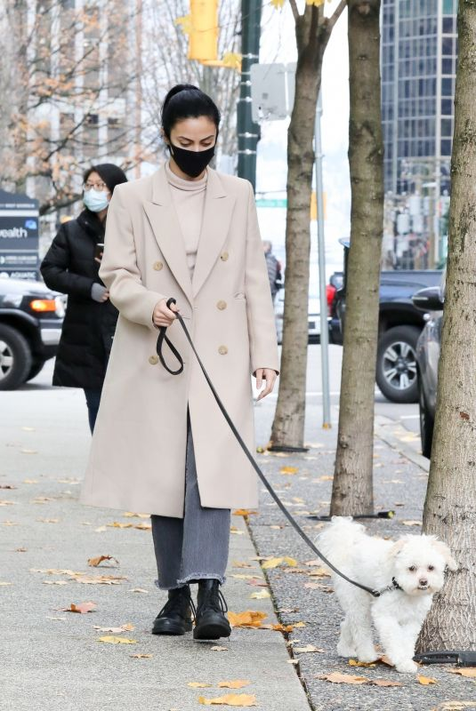 CAMILA MENDES Out with Her Dog in Vancouver 11/28/2020