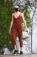 CANDICE SWANEPOEL in a Bodysuit Out Jogging in Miami 11/10/2020