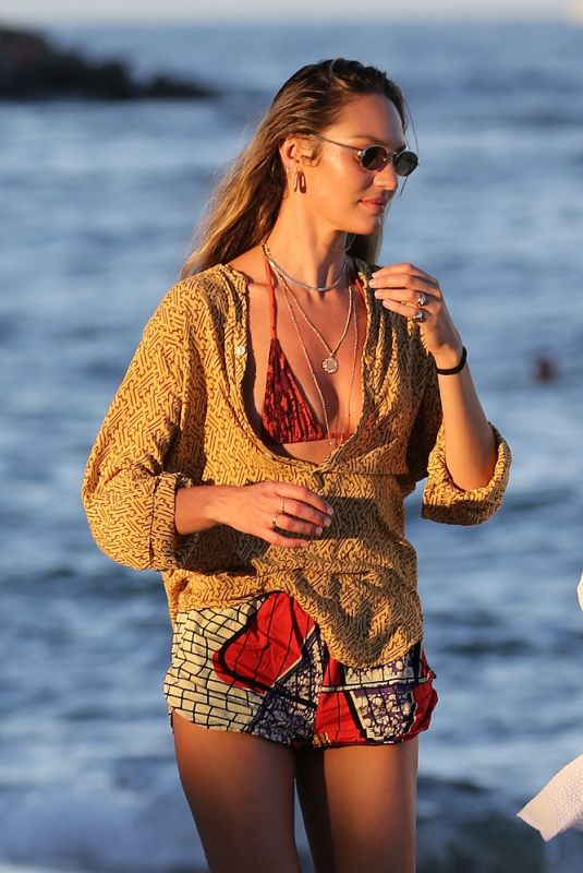 CANDICE SWANEPOEL Out on the Beach in Miami 11/15/2020
