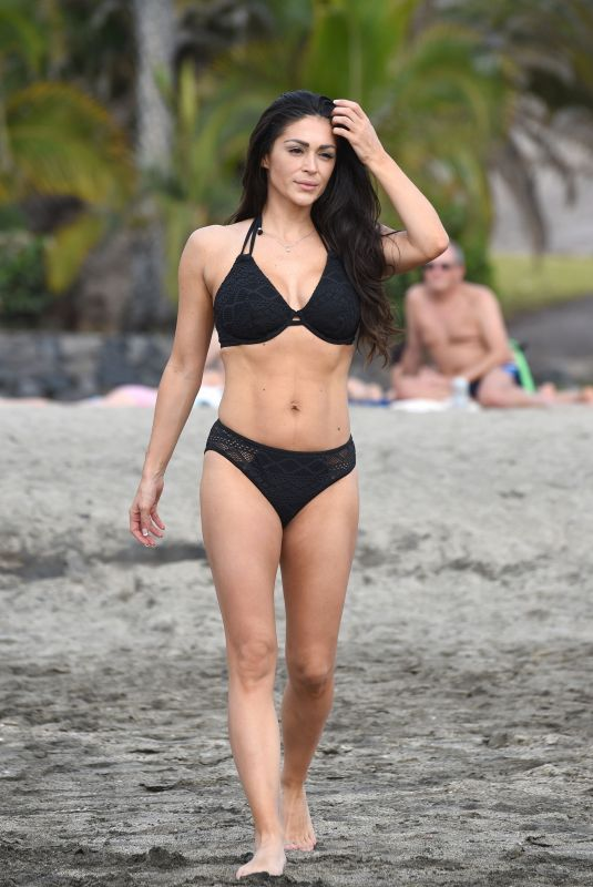 CASEY BATCHELOR in Bikini Filming Her Fitness App in Tenerife 11/03/2020