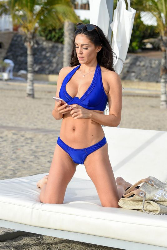 CASEY BATCHELOR in Bikini Filming Her Yoga Blitz Fitness App in Tenerife 11/06/2020