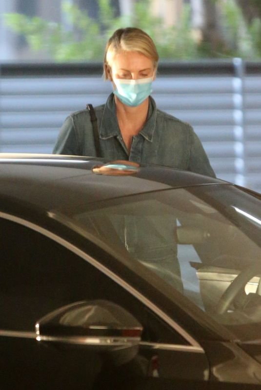 CHARLIZE THERON Leaves a Hospital in Los Angeles 11/04/2020