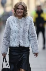 CHARLOTTE HAWKINS Arrives at Classic FM in London 11/27/2020