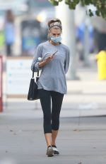 CHARLOTTE MCKINNEY Leaves a Gym in Los Angeles 11/03/2020
