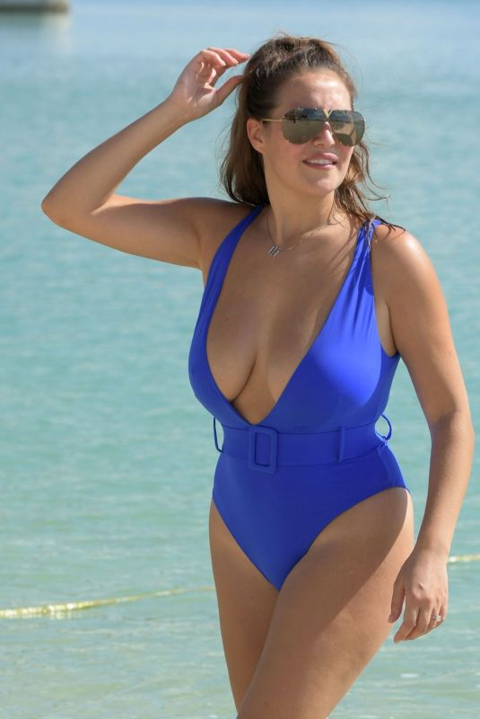CHLOE GOODMAN in Swimsuit at a Beach in Dubai 11/22/2020