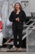 CHLOE MORETZ on the Set of Mother/android in Boston 11/09/2020