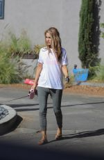 CHRISHELL STAUSE Out with Her Dog in Los Angeles 11/08/2020