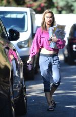 CHRISHELL STUASE Out with Her Dog in Los Angeles 11/13/2020