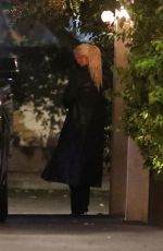 CHRISTINA AGUILERA at Ysabel Restaurant in West Hollywood 11/19/2020