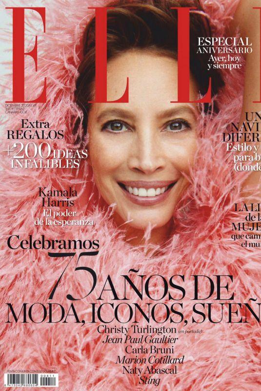 CHRISTY TURLINGTON in Elle Magazine, Spain December 2020