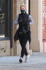 CLAIRE DANES Out Jogging in New York 11/20/2020