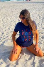 CLAUDIA ROMANI at a Beach in Miami 11/01/2020