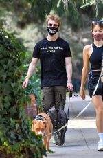 CLAUDIA SULEWSKI Out with Her Dog in Los Angeles 1107/2020