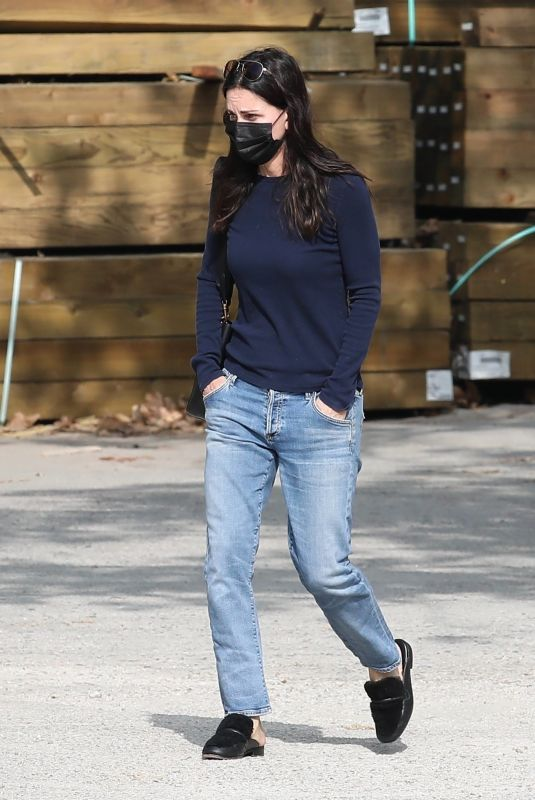 COURTENEY COX in Denim Out in Malibu 11/23/2020