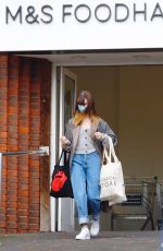 DAISY EDGAR-JONES Shopping at Marks & Spencer in London 11/06/2020