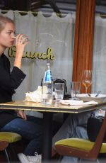 DAPHNE GROENEWELD Out for Lunch at Sant Ambroeus in New York 11/05/2020