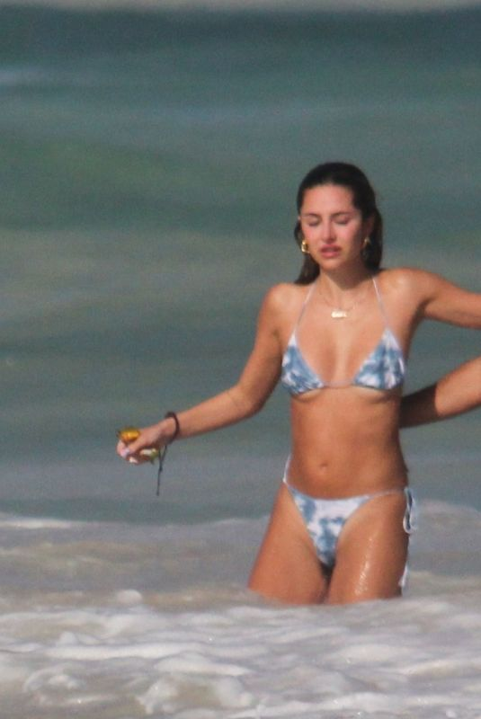 DELILAH HAMLIN in Bikini and Eyal Booker at a Beach in Tulum 11/26/2020